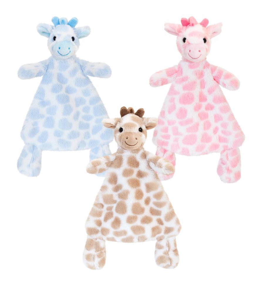 Uniliina kirahvi vauvalle Keel Toys 3-eril.