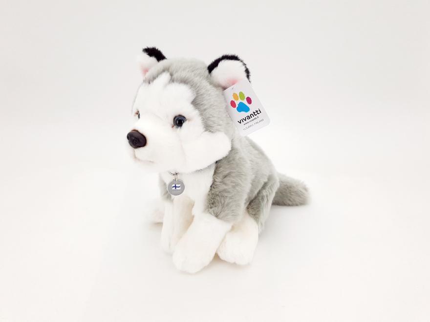 Husky ist. 23cm laatta kaulassa FINLAND Vivantti