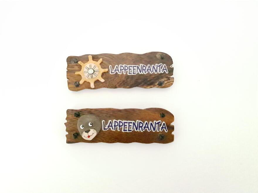Lappeenranta puinen kylttimagneetti